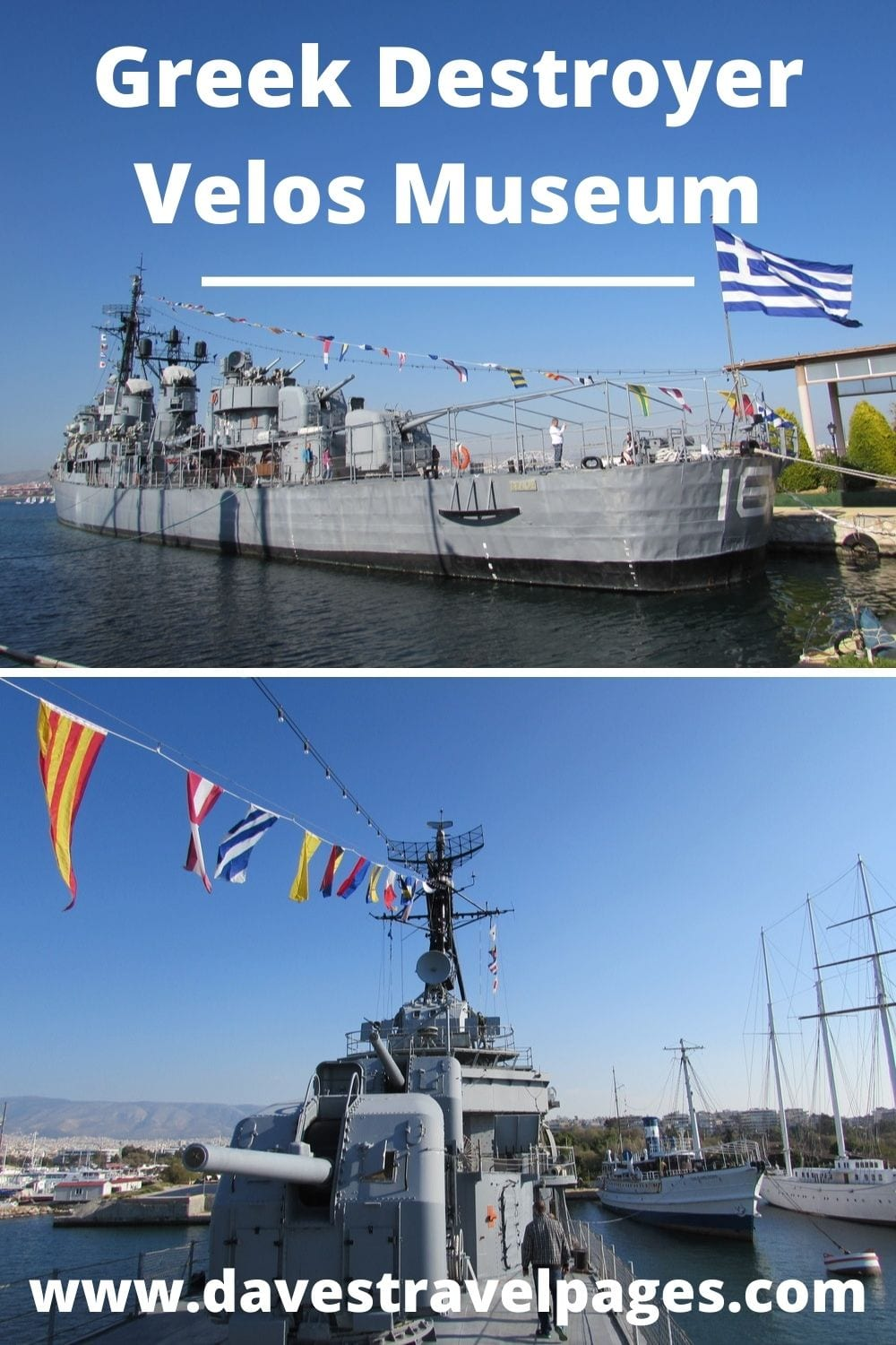 Greek Destroyer Velos in Athens Greece