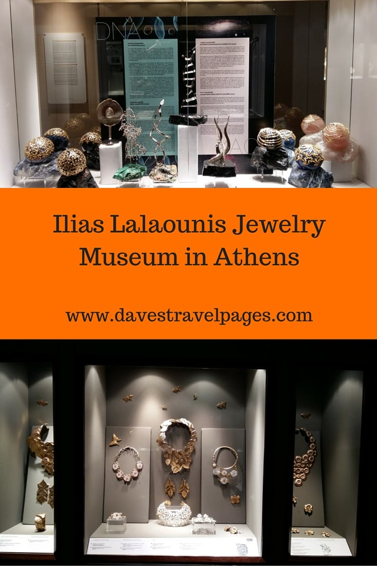 The Ilias Lalaounis Jewelry Museum is the only modern jewelry museum in Athens, and one of just a few in the world. The museum has permanent exhibitions which showcase the designs of Ilias Lalaounis covering a 60 year career