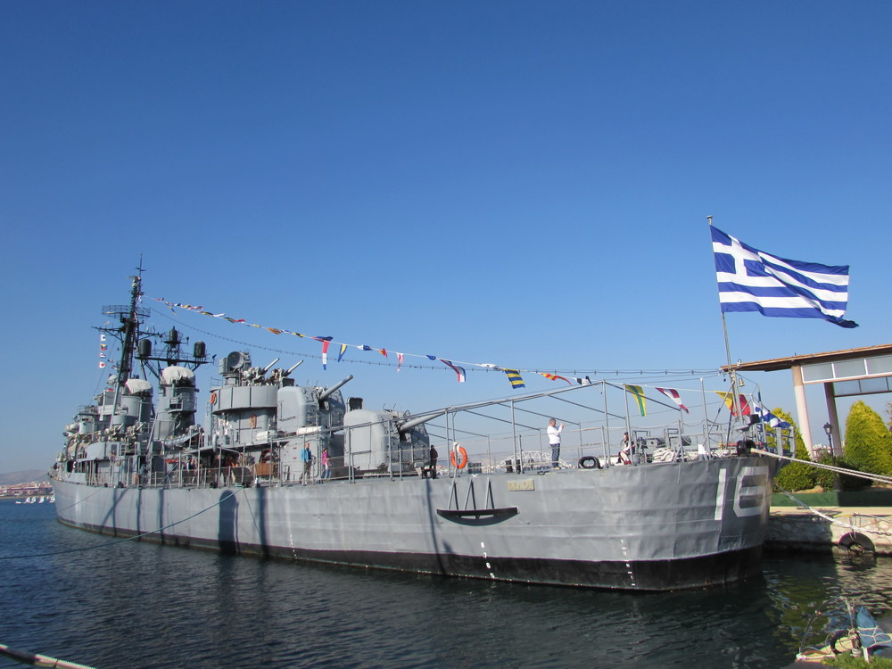 The Destroyer Velos D-16. This ship is now a floating museum in Faliro Bay, Athens.