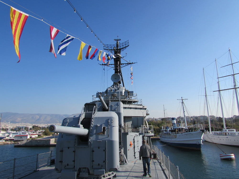 The Destroyer Velos D-16 - A floating museum in Athens
