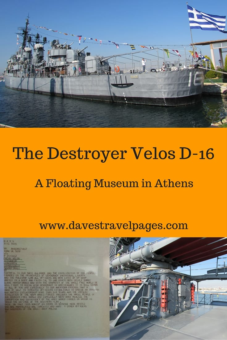 The Destroyer Velos D-16, is one of two floating museums owned by the Hellenic Navy. It is also, to my best knowledge, the only museum in the wider Athens area to focus on the period of the dictatorship in Greece. The Hellenic navy even go as far as describing it as an anti-dictatorial museum. Interested in finding out more? Click through to read on...