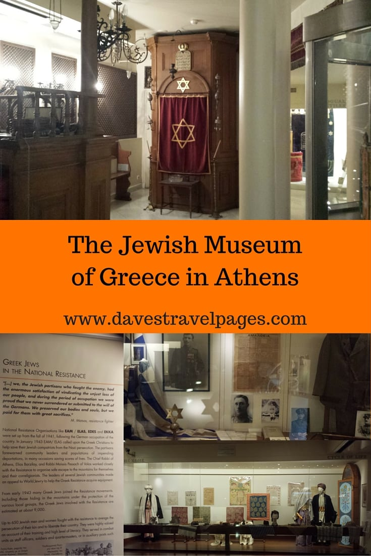 The Jewish Museum of Greece is located in Athens. It documents the history of Greek Jews, which stretches back over 2300 years.