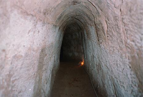 Cu Chi Tunnels in Vietnam from the Vietnam War