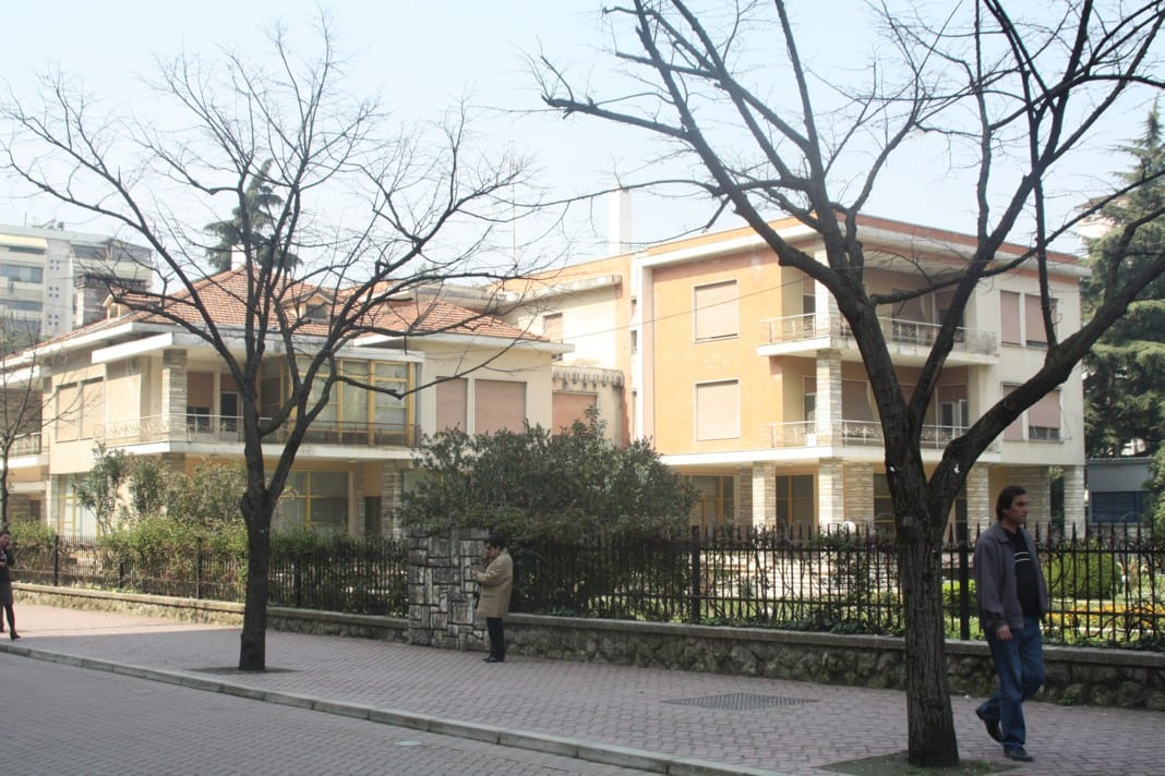 The residence of former Albanian dictator Enver Hoxha in Tirana
