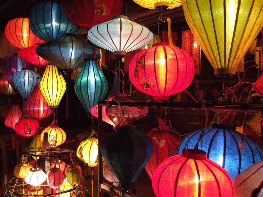Colourful lanterns in hoi an