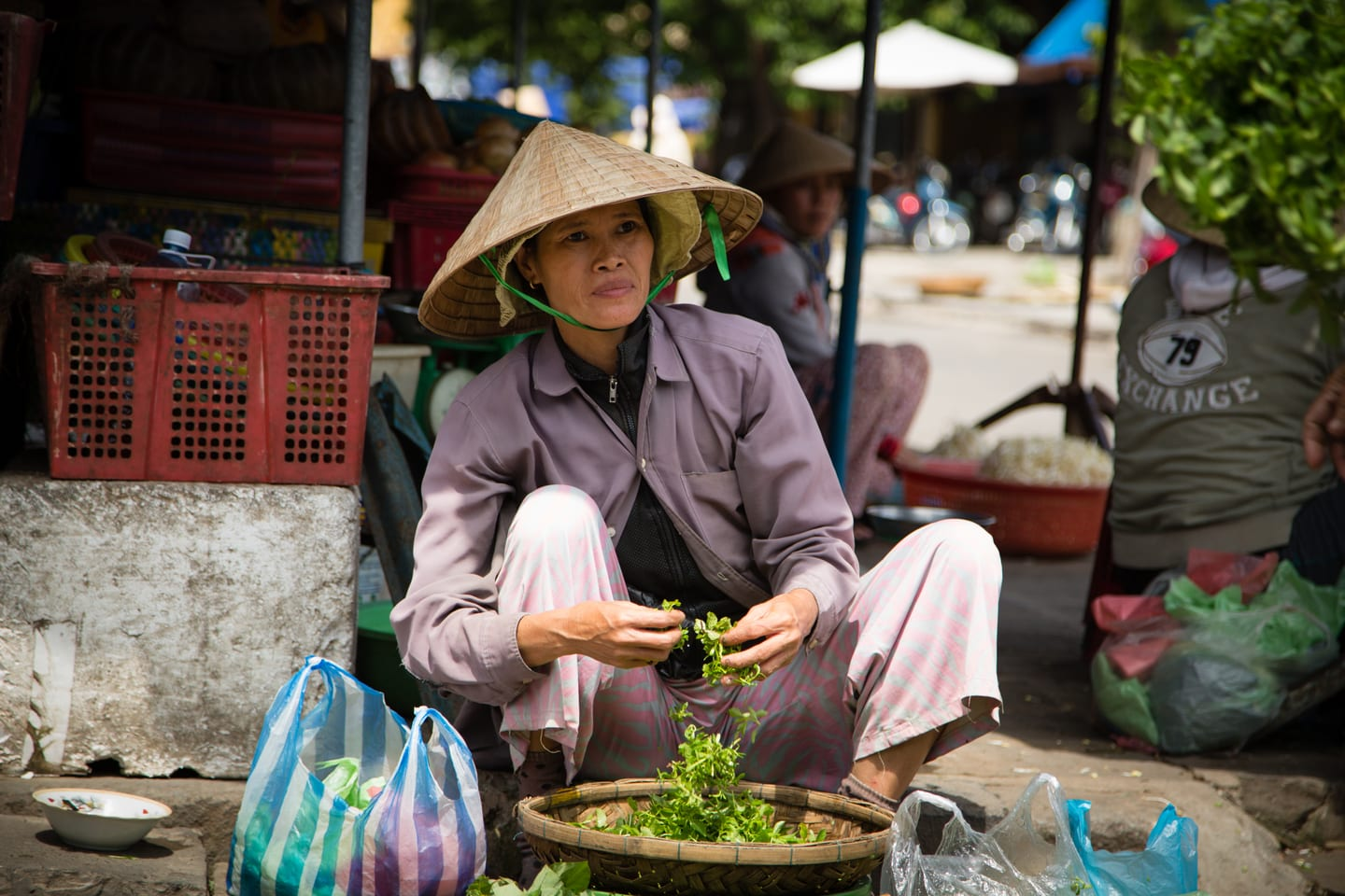A local trader in Vietnam