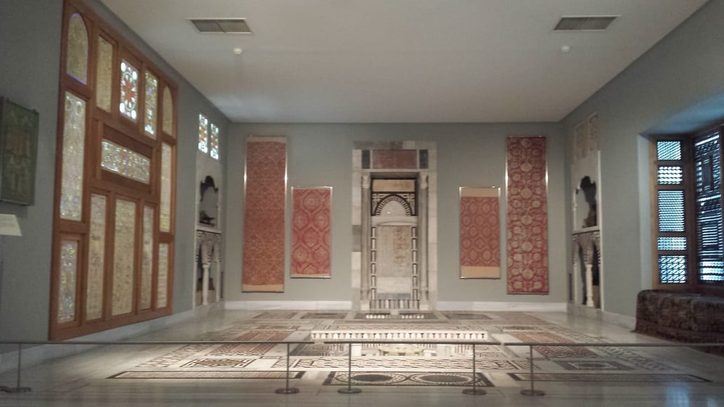 A reception room, transported almost stone for stone from Egypt