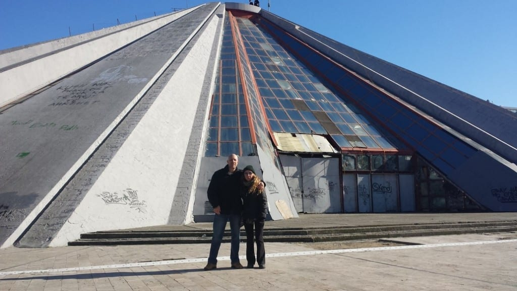 The Enver Hoxha pyramid is one of the Tirana tourist attractions you have to see when in the capital of Albania