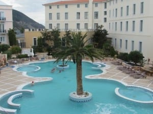 The central pool at the Thermae Sylla Spa and Wellness Hotel