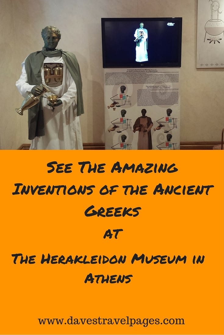 See The Amazing Inventions of the Ancient Greeks at the Herakleidon Museum in Athens. A 2000 year old robot, and a wine goblet that is always full? REad the full article to find out more.