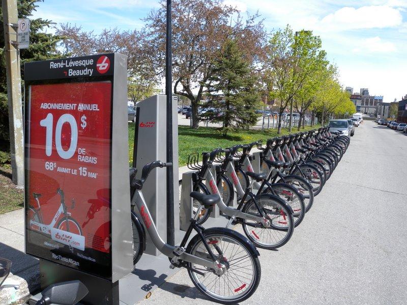 Bixi scheme in Montreal