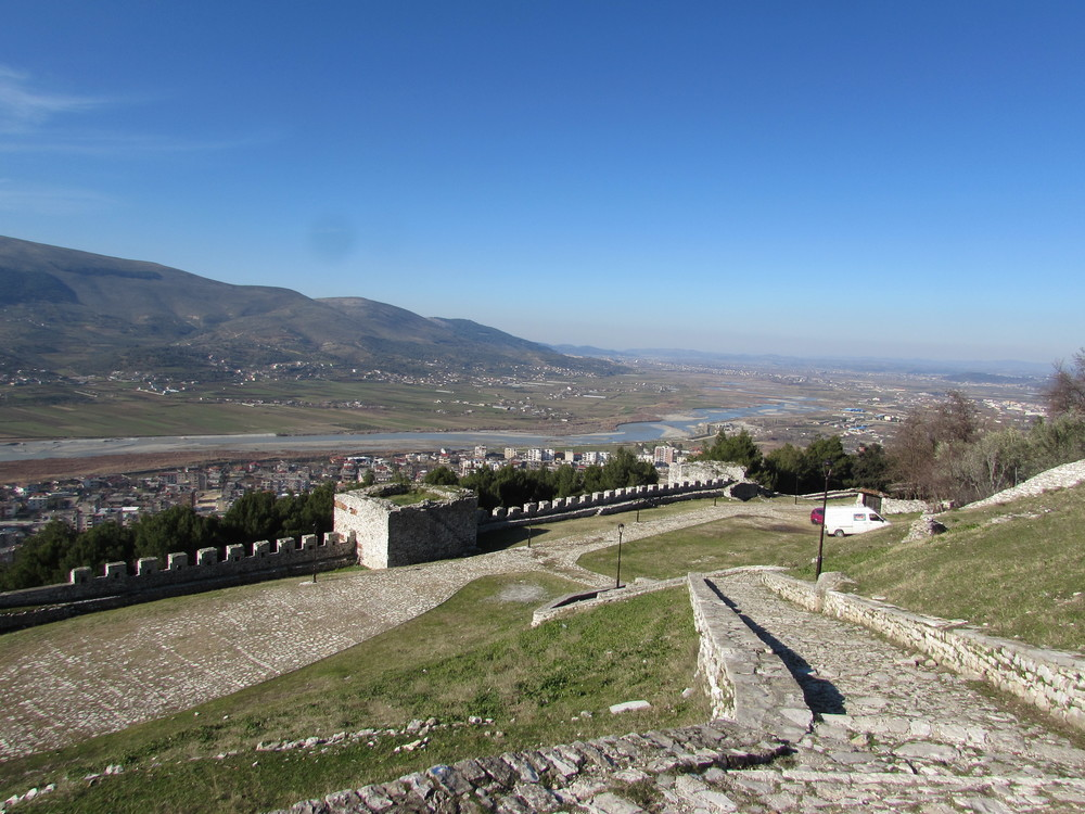 Inside Berat Castle in Albania