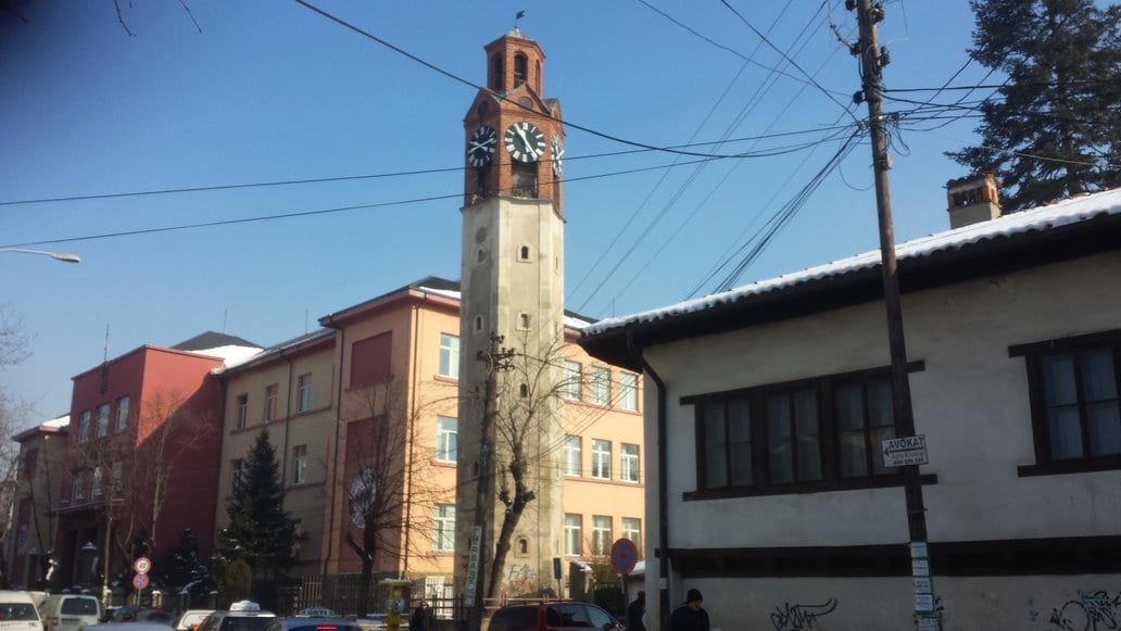 The Clock Tower in Pristina