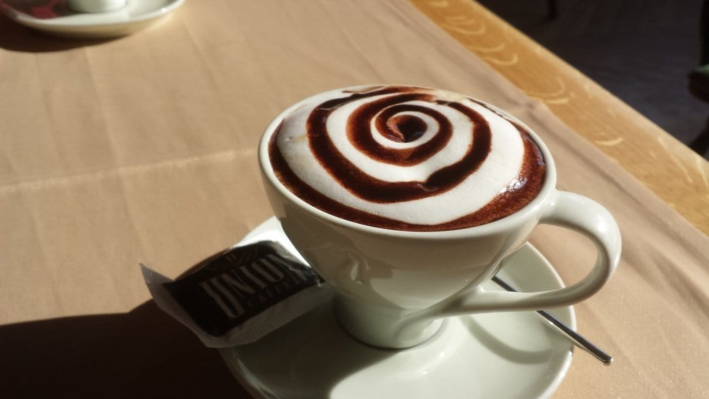 A warming cup of coffee in Pristina