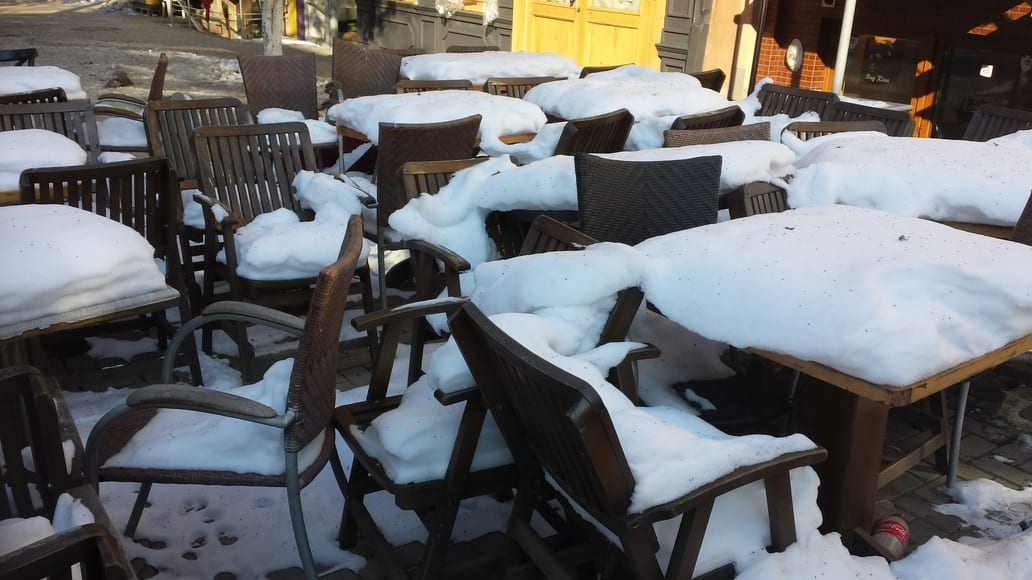 visiting Pristina in the winter