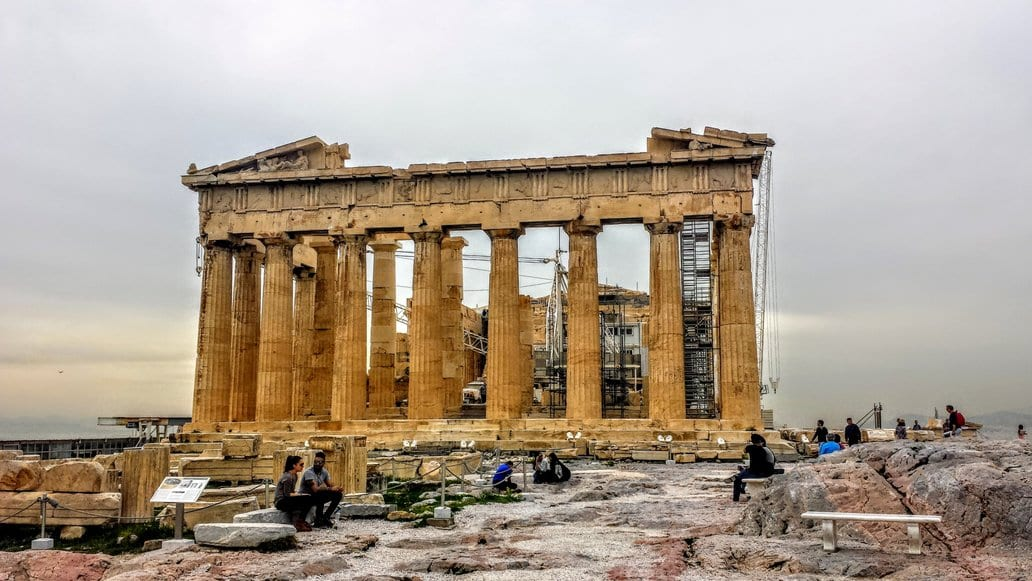 The Parthenon in the Acropolis, Greece