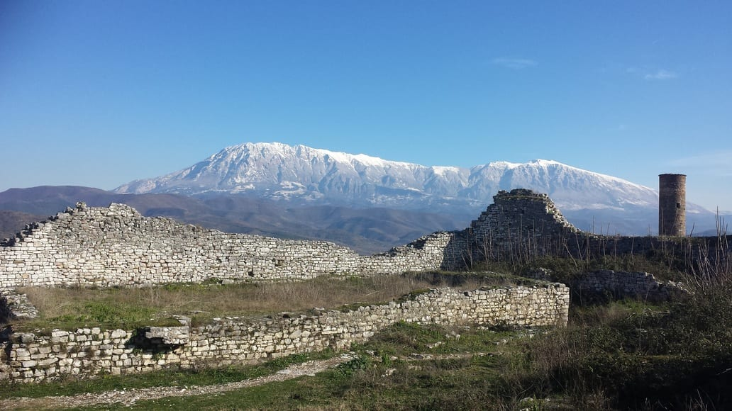 The view from the castle of Berat in Albania