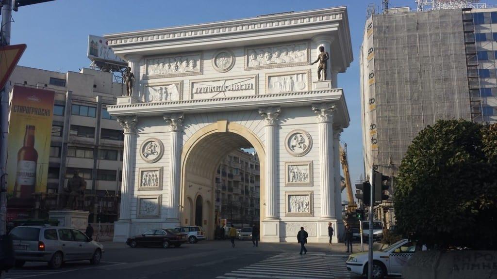 The Arc de Triomphe in Skopje. Obviously.