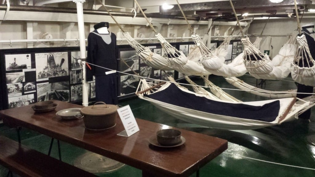 Below decks in the Averof Museum