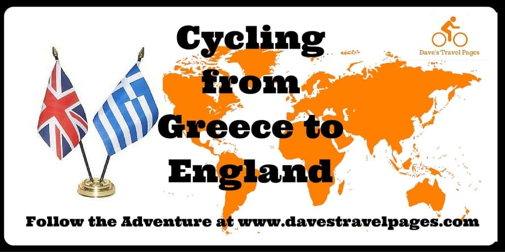 Cycling from Greece to England - Follow the adventure at www.davestravelpages.com