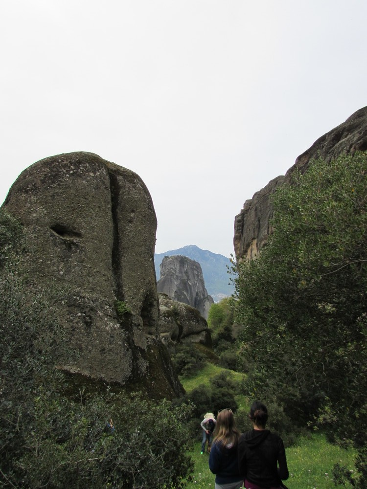 This rock formation in Meteora reminded me of Easter Island