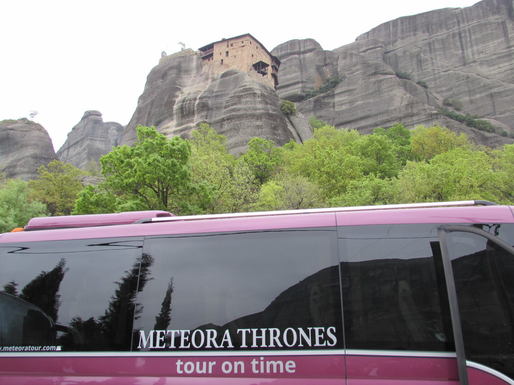 Beginning the hiking tour with Meteora Thrones