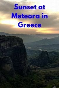 How to enjoy a spectacular sunset at Meteora in Greece