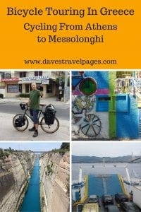The first week of bicycle touring in Greece, on my trip to cycle from Greece to England. Planning a bicycle tour in Greece? Check out this useful information as well as my route maps.