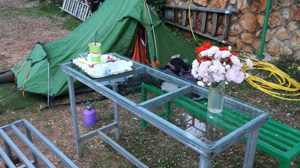 Camping in Albania whilst cycling from Greece to England