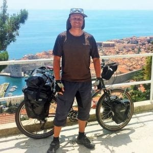 Dave Briggs bicycle touring budget for May 2016 when cycling from Greece to England