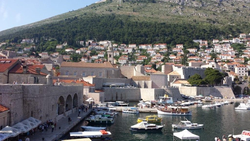 Walking around the walls of Dubrovnik