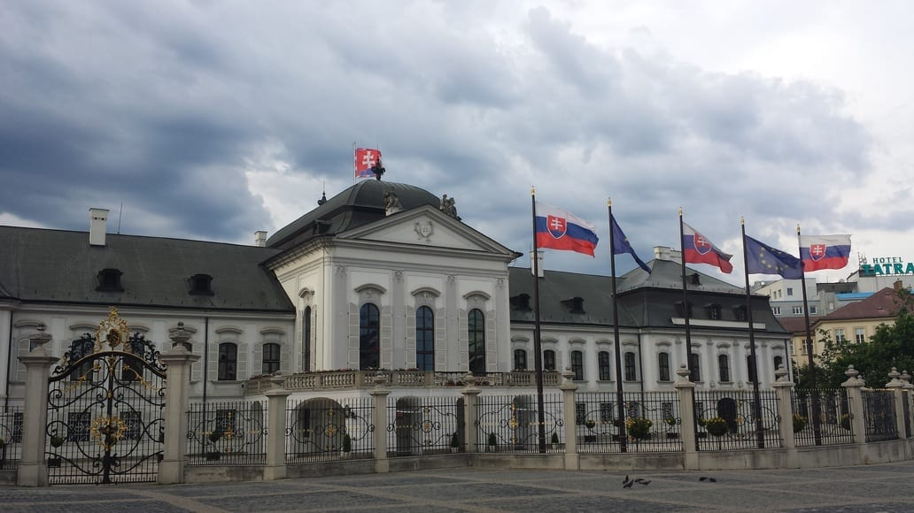The Presidential Palace in Bratislava is a place to see during your city break