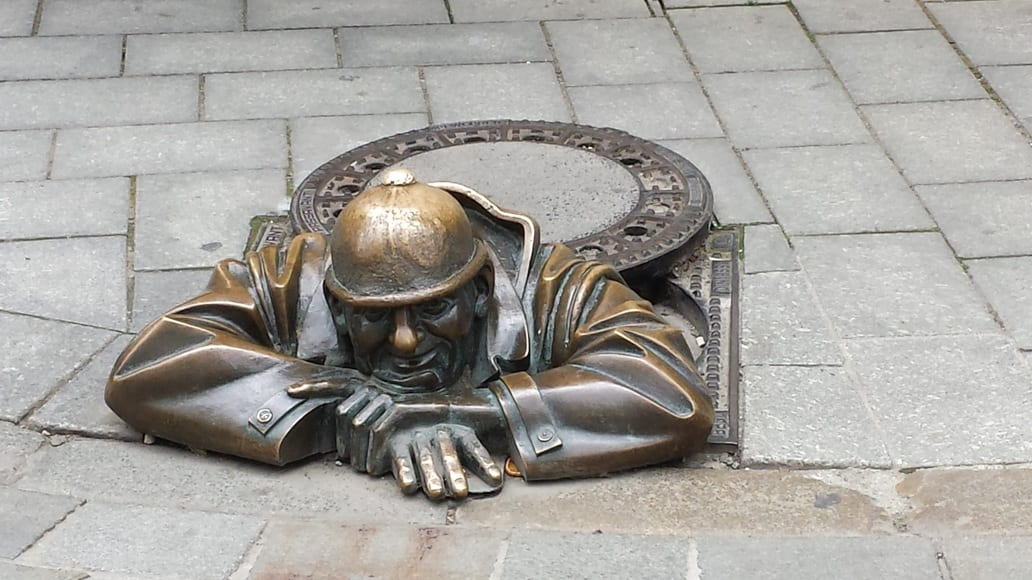 This bronze statue is one of the symbols of modern Bratislava