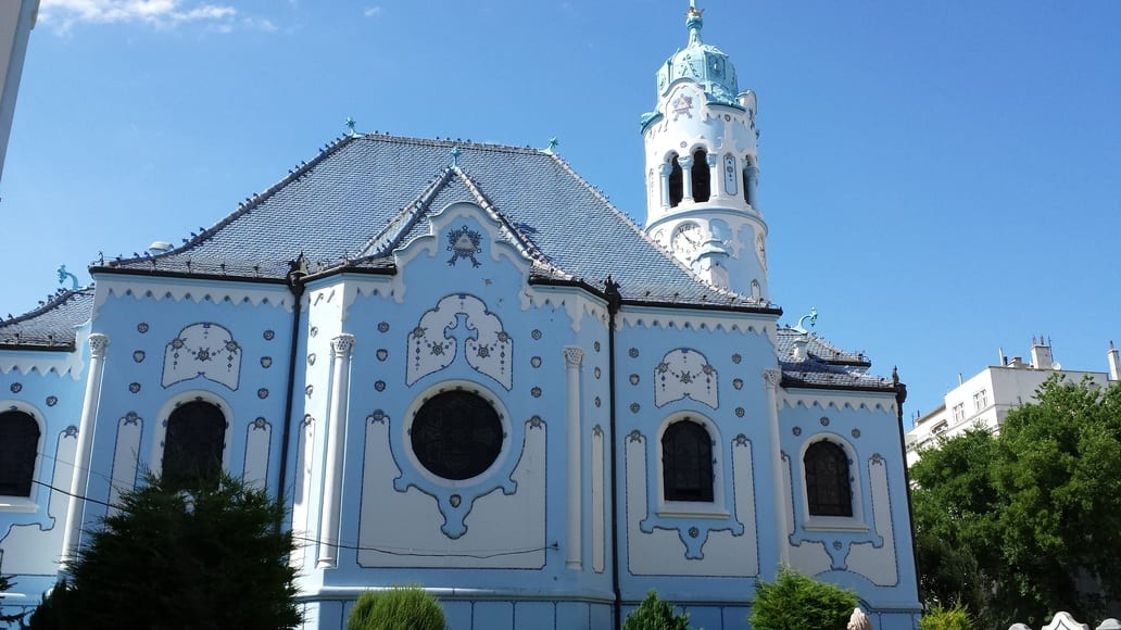 The Blue Church in Bratislava