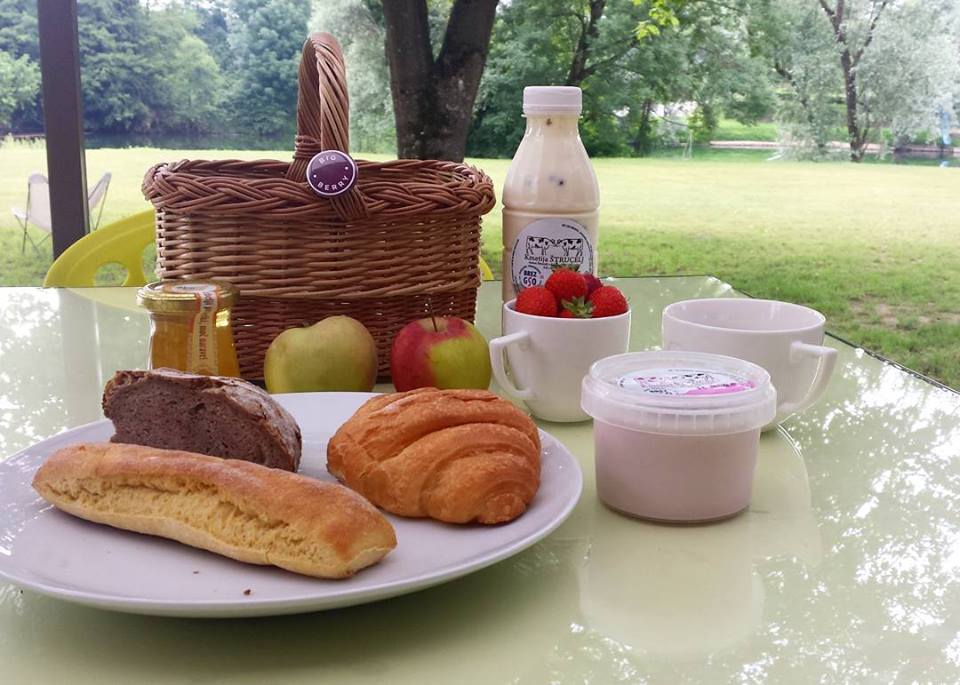 Breakfast at the Big Berry Lifestyle Camp in Slovenia