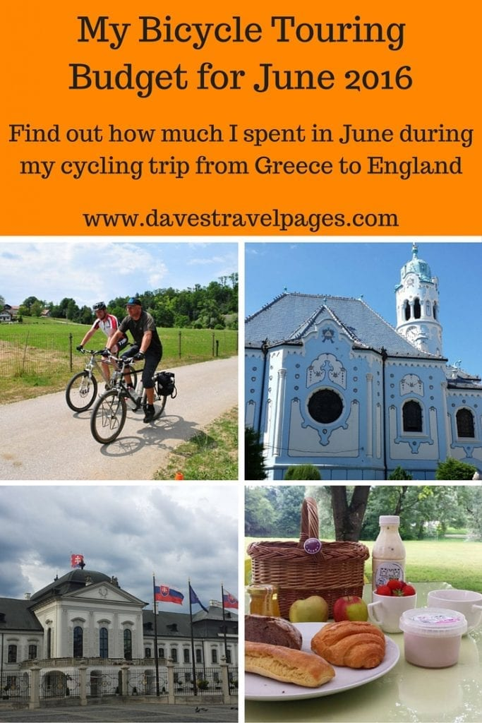 Here's my bicycle touring budget for June 2016. Cycling from Greece to England has certainly been an adventure so far, but not an expensive one! Check out how much I spent on the road.