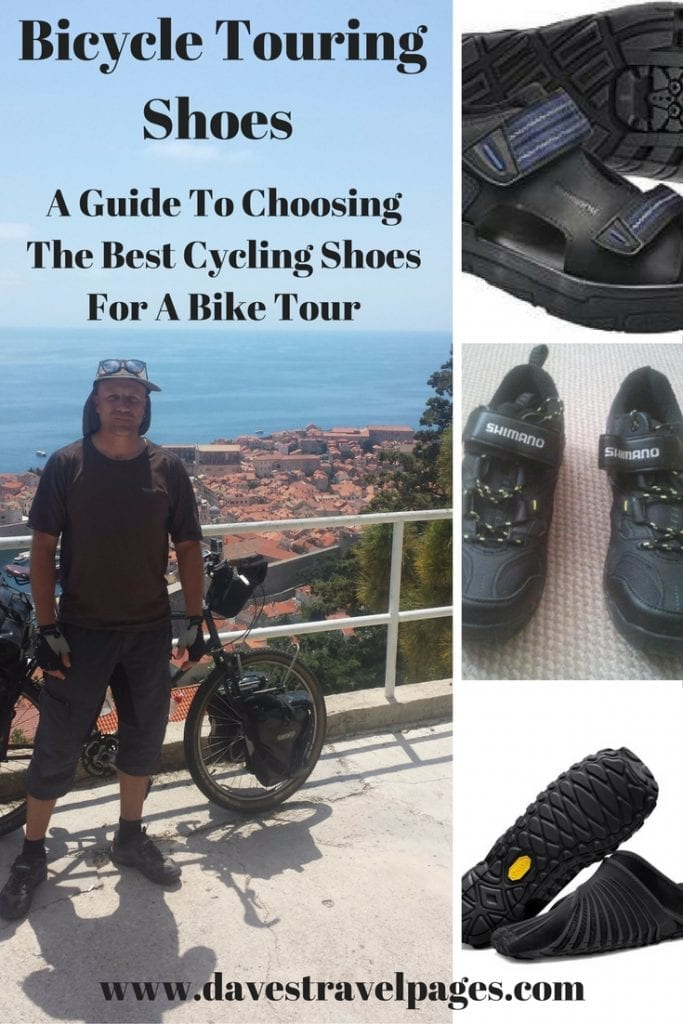 A Guide to choosing the best bicycle touring shoes for your next bike tour.