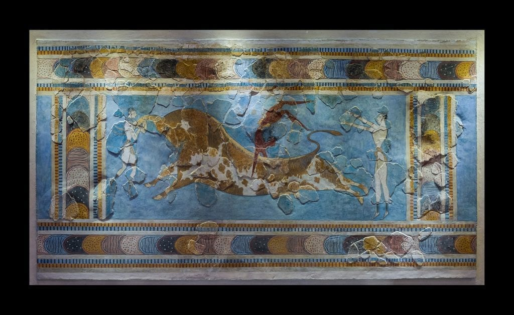 Minoan bull leaping - Did the palace of Knossos have a similar festival to the bull leaping festival of Pamplona in Spain?
