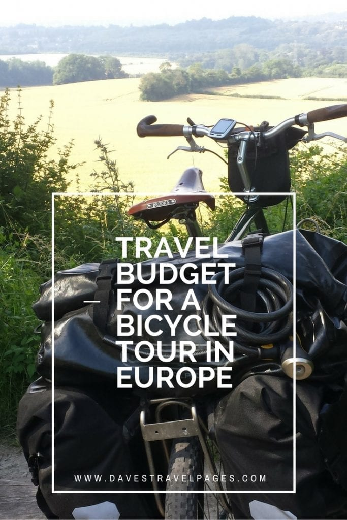 My travel budget for a bicycle tour across Europe. This details the amount of money I spent in July, as well as the total amount I spent cycling from Greece to England.
