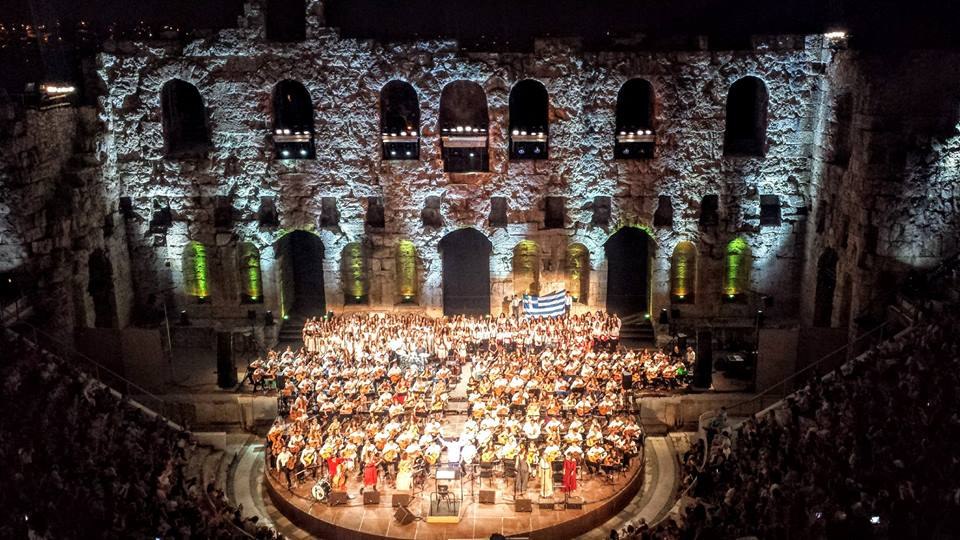100 guitars for Greece at the Herodion in Athens in September
