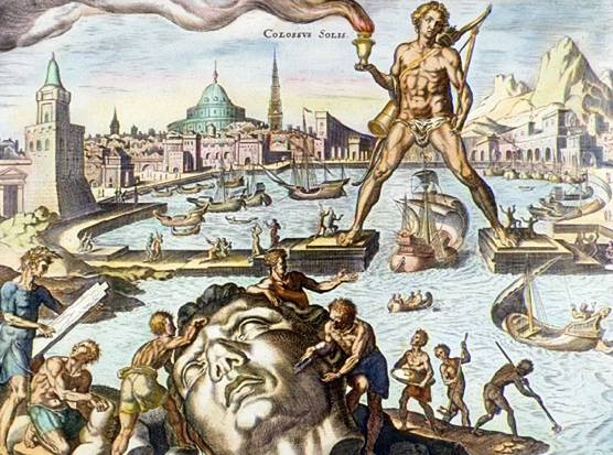 The Colossus of Rhodes was one of the original 7 wonders