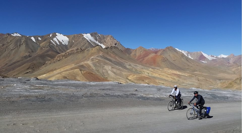 Cycling from Beijing to Tehran along the Silk Road Route.