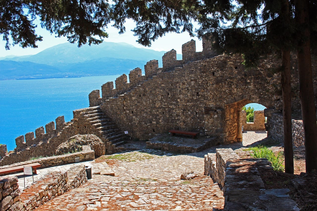 Nafpaktos castle in Greece