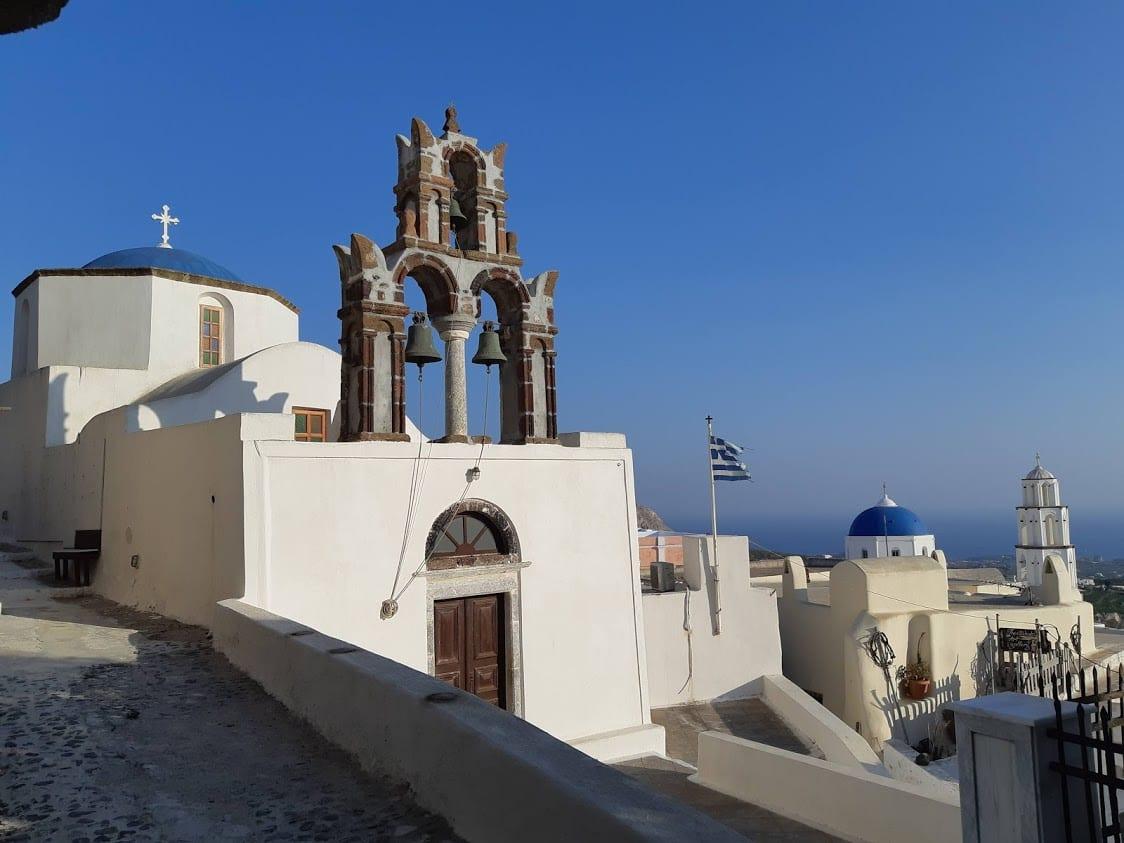 Pyrgos in Santorini Greece