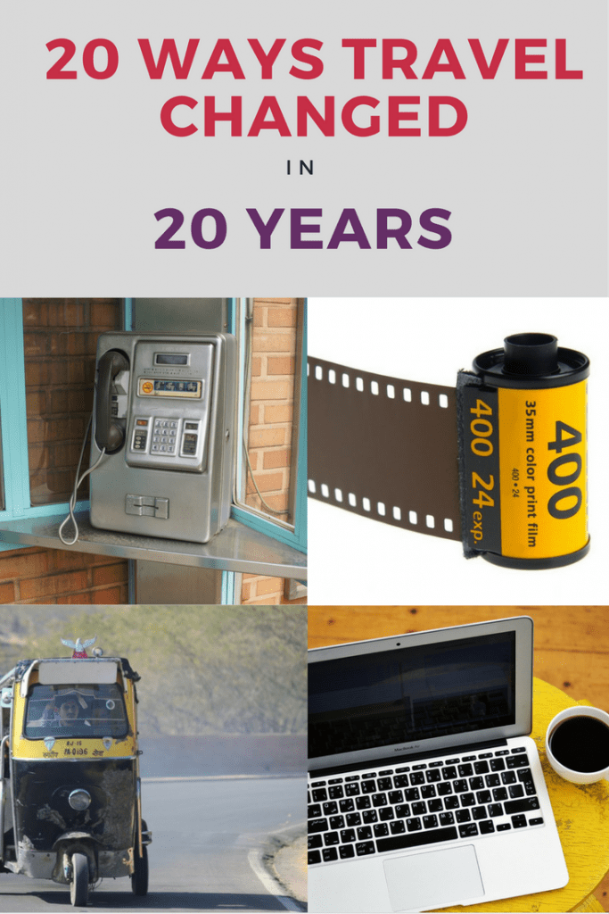 A look at 20 ways travel changed in 20 years. So many things have changed over the last 20 years when it comes to travel, that I thought I would take a little tongue-in-cheek look at them.