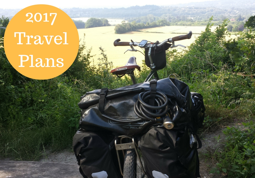 My 2017 travel plans. of course, bicycle touring features in there!