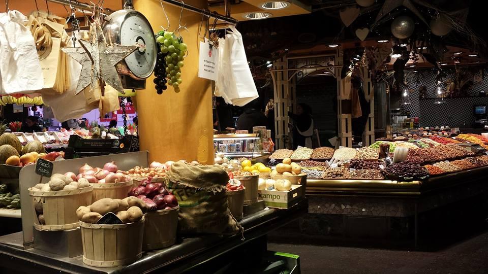 The Boqueria Food Market in Barcelona