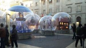 An interesting art installation in Barcelona in December 2016