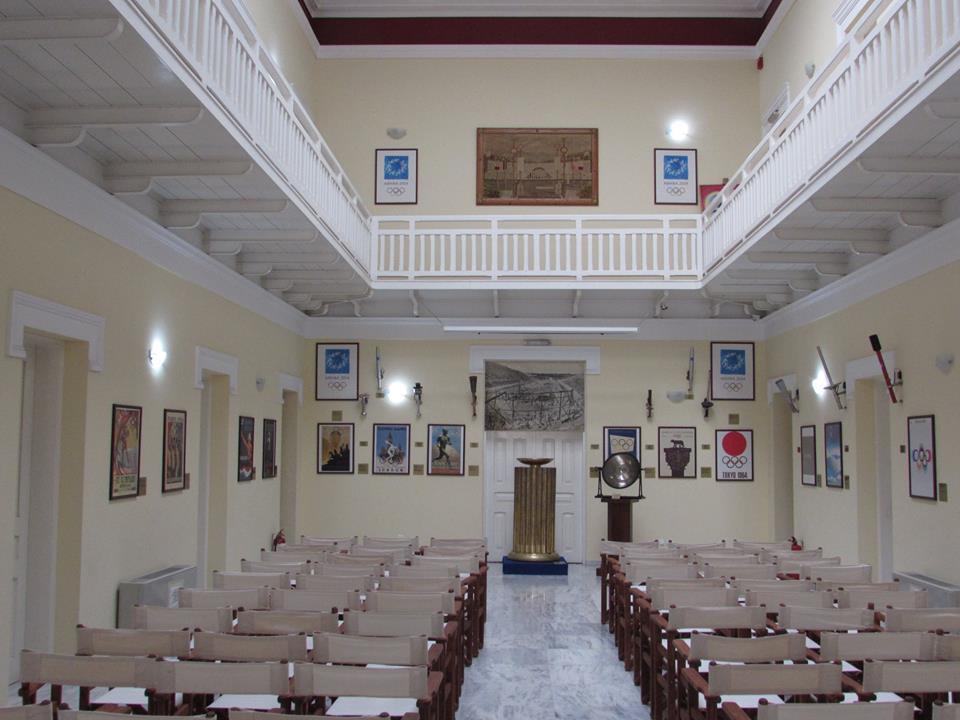 Small museum area inside the Panathenaic Stadium in Athens