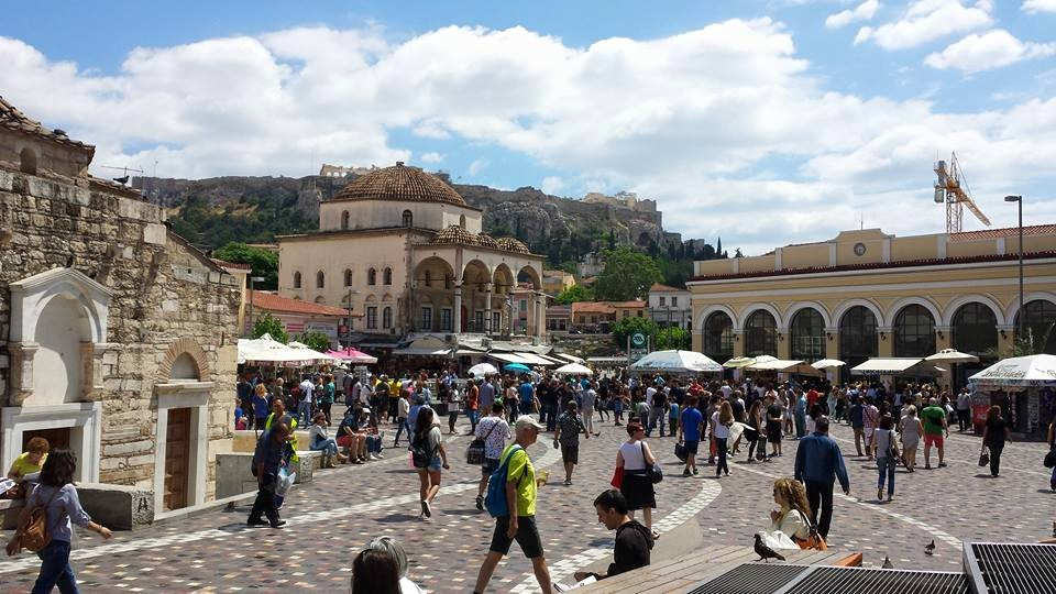 Monastiraki Square in Athens: Pass by here when following the best one day itinerary Athens